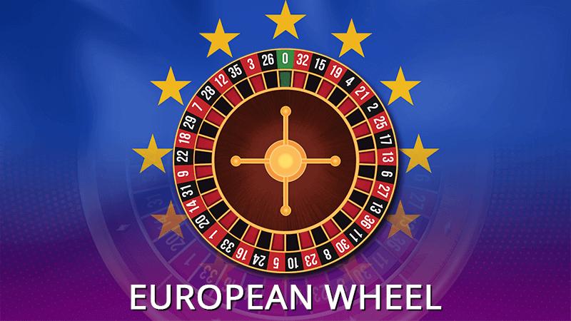 European roulette wheel in details