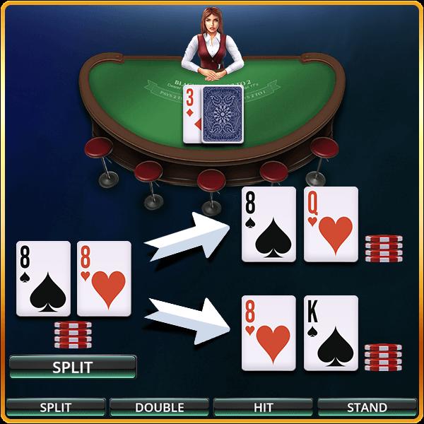 blackjack split of eights